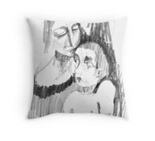 I'll kiss you when you're not looking... Throw Pillow