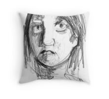 She bought a coffee. She looked at me. We are strangers forever. Throw Pillow