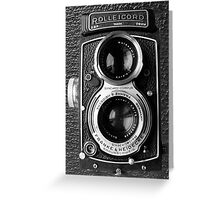█ ♥ █ ROLLEICORD CAMERA PICTURE/CARD-PILLOW-TOTE BAG-JOURNAL-ECT. █ ♥ █  Greeting Card