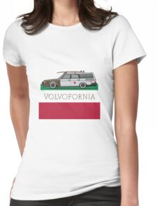 Volvofornia Slammed Volvo 245 240 Wagon California Style Womens Fitted T-Shirt