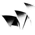 Sydney Opera House - Black and White by John Dalkin