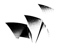 Sydney Opera House - Black and White Photographic Print