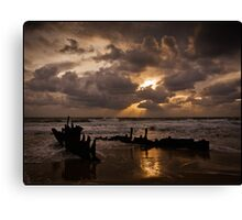 The wreck of the SS Dicky Canvas Print