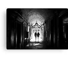 There is light at the end Canvas Print