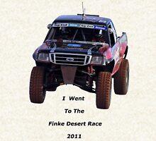 Finke Desert Race in black lettering Hoodie