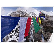 Prayer Flags @ Gokyo Ri Poster
