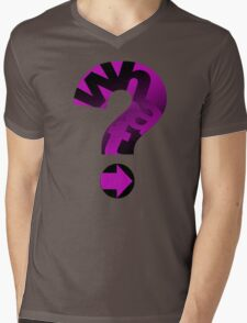 WHAT(PINK) Mens V-Neck T-Shirt
