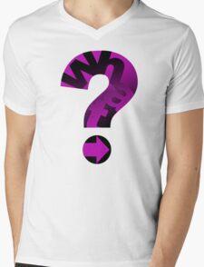 WHAT(PINK) Mens V-Neck T-Shirt