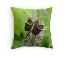 Libellula luctuosa- Widow Skimmer- Female   Throw Pillow