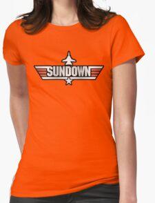 Top Gun Sundown (with Tomcat) Womens Fitted T-Shirt