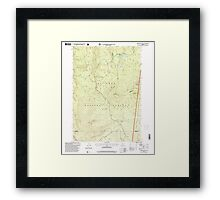 USGS Topo Map Oregon Pinhead Buttes 281102 1997 24000 Framed Print