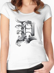 Baroque Rococo Detroit D Women's Fitted Scoop T-Shirt