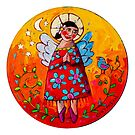 Contented by ART PRINTS ONLINE         by artist SARA  CATENA