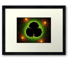 Van Gogh's Shamrock from Spider Mum Flame Framed Print