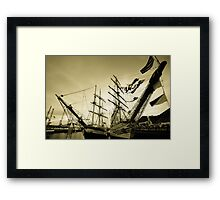 Tall Ships at Hartlepool Framed Print