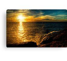 Sunset & Spray Canvas Print