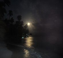 fullmoon night in the caribbean by batichica