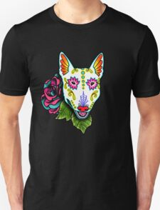 Day of the Dead Bull Terrier Sugar Skull Dog T-Shirt