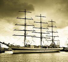Tall Ship at Harlepool by Dave Hudspeth