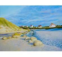 Lokken Beach in Jylland, Denmark in the early evening Photographic Print