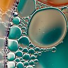 Blue Bubble Reflection by Mandy Brown