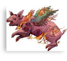 Porky Panic Metal Print