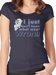 "Derpy Hooves / Ditzy Doo ""I just don't know what went wrong"" Women's Fitted Scoop T-Shirt"