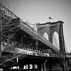 Brooklyn Bridge in B&W by WestEndBlvd