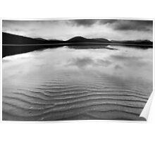 Loch Tulla Ripples - mono Poster