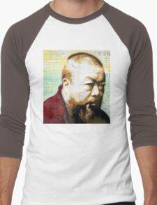 Tribute to Ai Weiwei: 21st Century Revolutionary (Black) Men's Baseball ¾ T-Shirt