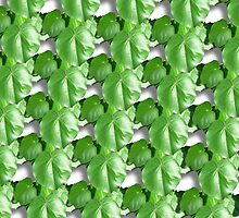 Repeated Leaves Duvet by GolemAura