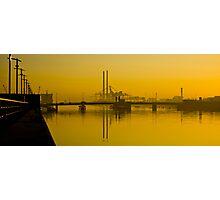 Dublin's Poolbeg Towers around Sunrise Photographic Print
