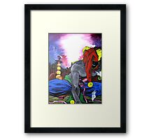 """ Jester's Hookah- Contemporary Art Figure "" Framed Print"
