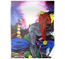 """ Jester's Hookah- Contemporary Art Figure "" Poster"
