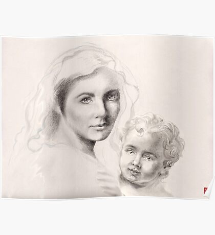 Holy Mary and Christ Child Poster