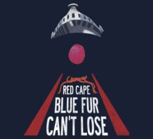 'Red Cape, Blue Fur...' (Super Grover / Friday Night Lights) by James Hance