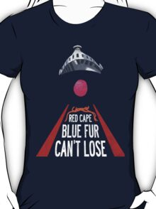 'Red Cape, Blue Fur...' (Super Grover / Friday Night Lights) T-Shirt