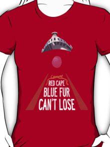 'Red Cape, Blue Fur...' (Super Grover / Friday Night Lights) T-Shirt