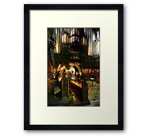 Inside the Choir at Ripon Cathedral Framed Print