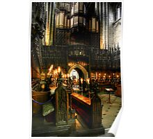 Inside the Choir at Ripon Cathedral Poster