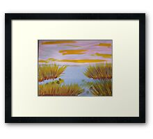 On the edge of the swamp, watercolor Framed Print