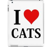 I Love Heart Cats iPad Case/Skin