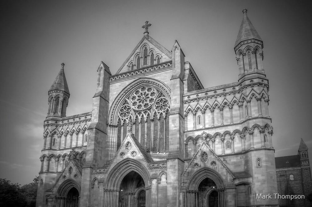 St Albans Abbey - Black & White by Mark Thompson