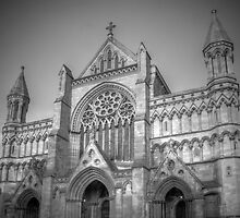 St Albans Abbey - Black & White by Mark Thompson