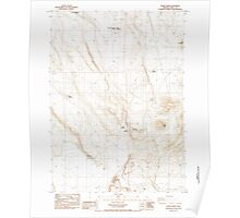 USGS Topo Map Oregon Sawed Horn 281407 1984 24000 Poster
