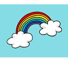 Colorful rainbow in white clouds Photographic Print