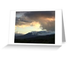 The fog came over the mountain.. Greeting Card