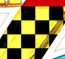 """Introducing the letter """"Zomega"""" Sticker"""