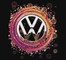 The Abstract Circular VW Badge T-Shirt Kids Clothes
