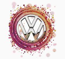 The Abstract Circular VW Badge T-Shirt by jay007